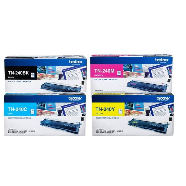 Brother Clr Laser Tn - 4 Clr Pk Of Laser Tn -blk,cyan,magen&yellow TN-240CL-4PK