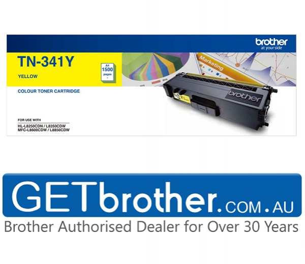 Brother Standard Yield Yellow Toner To Suit Hl-l8250cdn/8350cdw Mfc-l8600 TN-341Y