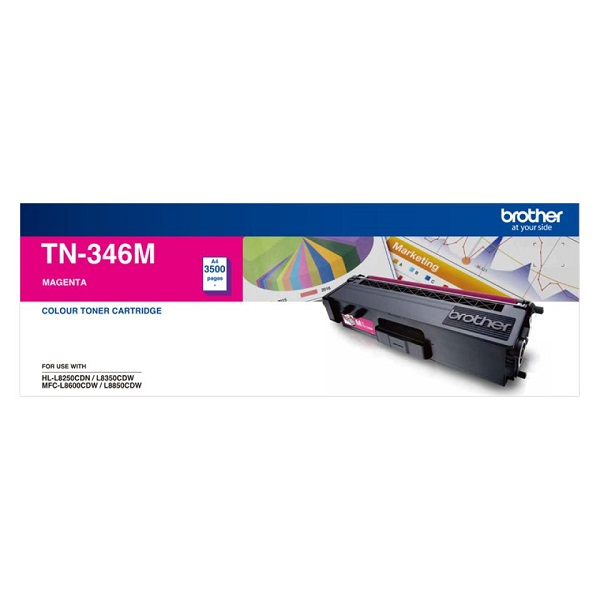 Brother High Yield Magenta Toner To Suit Hl-l8250cdn/8350cdw Mfc-l8600cdw TN-346M