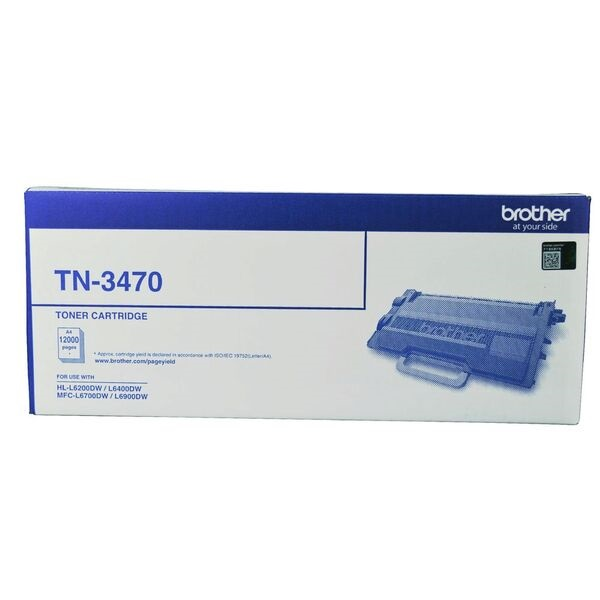 Brother Mono Laser Toner - High Yield Up To 12000 Pages -to Suit With Hl- TN-3470