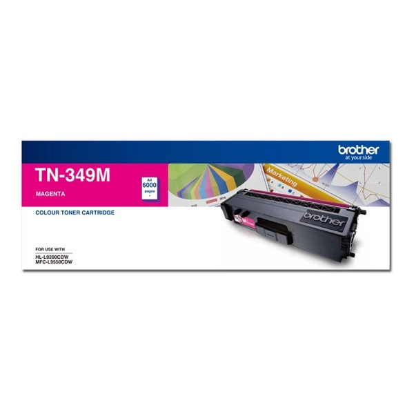 Brother Super High Yield Magenta Toner To Suit Hl-l9200cdw Mfc-l9550cdw - TN-349M