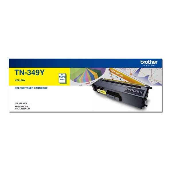 Brother Super High Yield Yellow Toner To Suit Hl-l9200cdw Mfc-l9550cdw -  TN-349Y