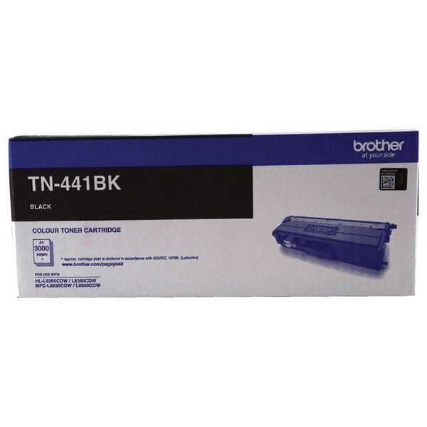 Brother Standard Yield Black Toner To Suit Hl-l8260cdn/8360cdw Mfc-l8690c TN-441BK