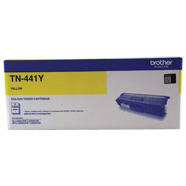 Brother Standard Yield Yellow Toner To Suit Hl-l8260cdn/8360cdw Mfc-l8690 TN-441Y