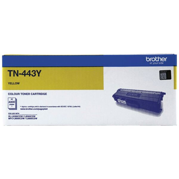 Brother High Yield Yellow Toner To Suit Hl-l8260cdn/8360cdw Mfc-l8690cdw/ TN-443Y