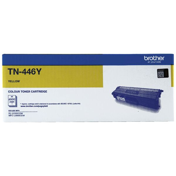 Brother Super High Yield Yellow Toner To Suit Hl-l8360cdw, Mfc-l8900cdw - TN-446Y