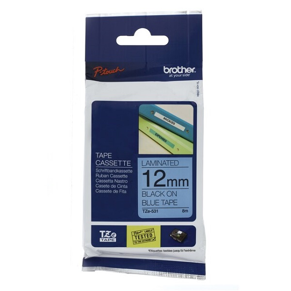 Brother 12mm Black On Blue Tz Tape TZE-531