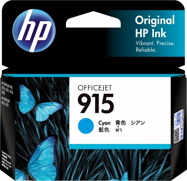 HP 915 Cyan Original Ink Cartridge 315 Pages 3YM15AA