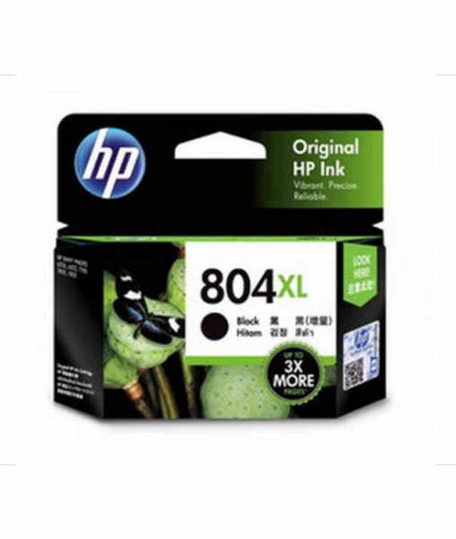 HP 804xl Blk Ink Cart 600 Pages For Hp Envy 6220 6222 7120 7820 7 T6N12AA