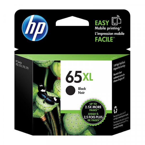 HP 65xl High Yield Black Original Ink Cartridge N9K04AA