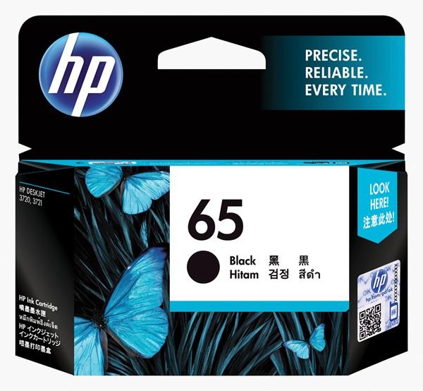 HP 65 Black Original Ink Cartridge N9K02AA