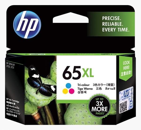 HP 65xl High Yield Tri-color Original Ink Cartridge N9K03AA