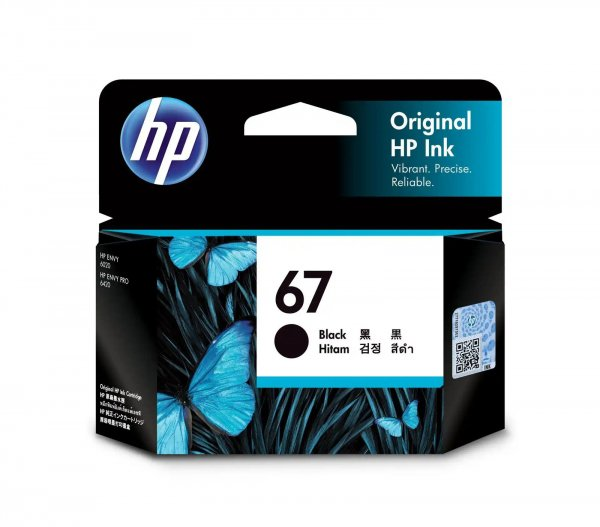 HP 67 Black Original Ink Cartridge 120 Page Yield 3YM56AA