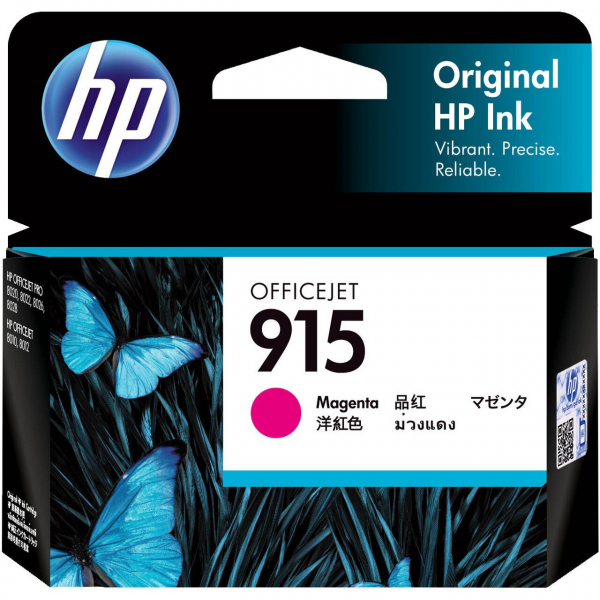 HP 915 Magenta Original Ink Cartridge 315 Pages 3YM16AA