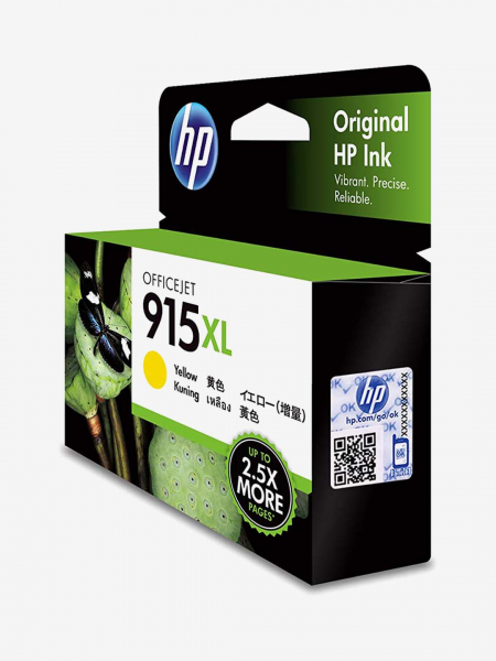 HP 915xl Yellow Original Ink Cartridge 825 Pages 3YM21AA