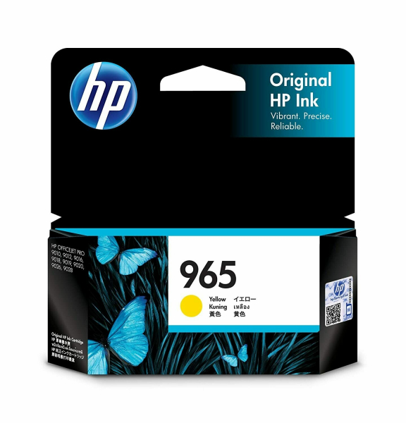 HP 965 Yellow Original Ink Cartridge 700 Pages 3JA79AA
