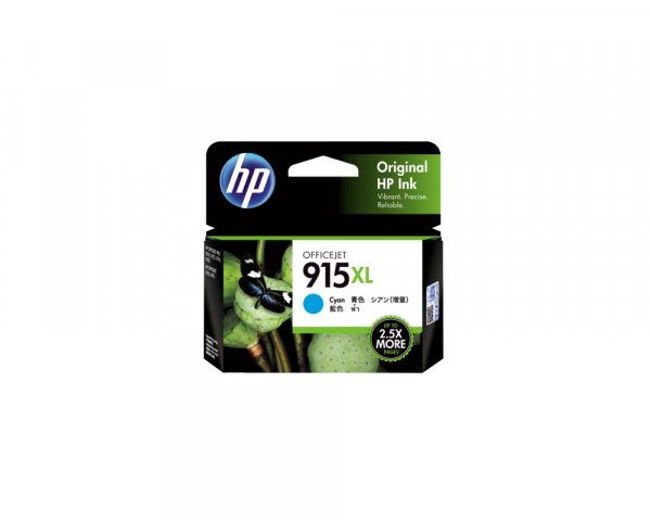 HP 915xl Cyan Original Ink Cartridge 825 Pages 3YM19AA