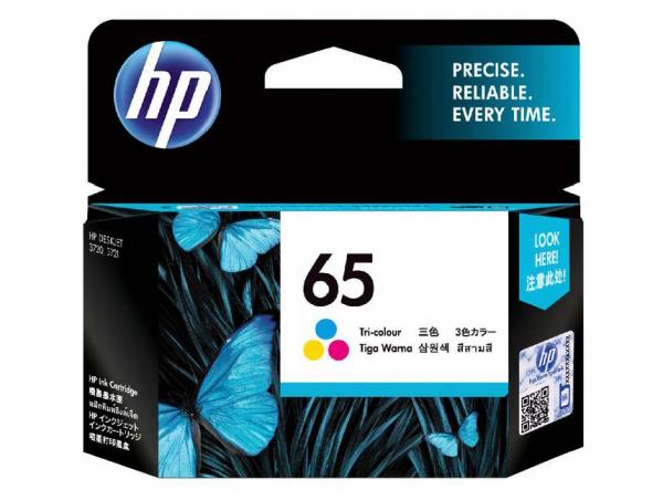 HP 65 Tri-color Original Ink Cartridge N9K01AA