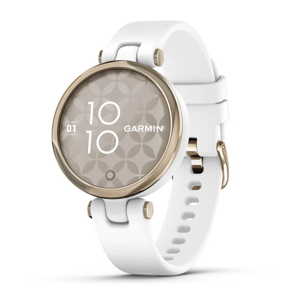 Garmin Lily Sport Cream Gold Bezel With White Case And Silicon 010-02384-00