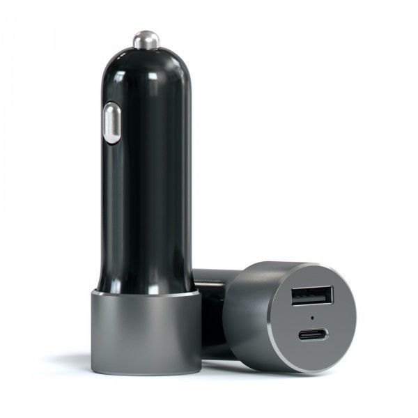 Satechi 72w Usb-c Pd Car Charger (space Grey) ST-TCPDCCM