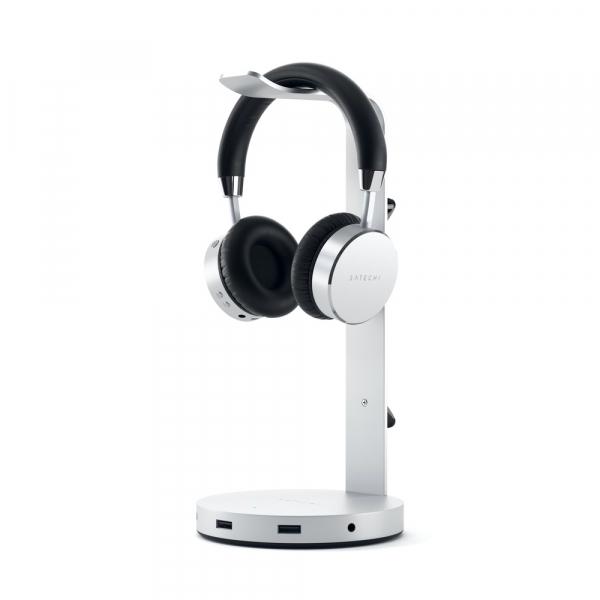 Satechi Aluminium Headphone Stand Hub (silver) ST-UCHSHS