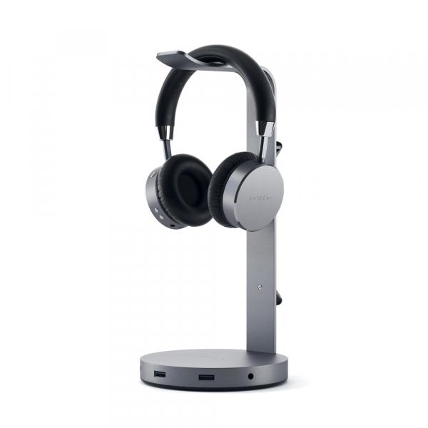 Satechi Aluminium Headphone Stand Hub (space Grey) ST-UCHSHM