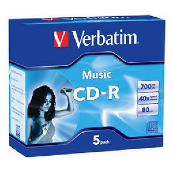 VERBATIM Cd-r 700mb 5 Pack Audio 62620