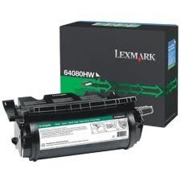 LEXMARK Black (greenlite)toner Yield 21000 64080HW