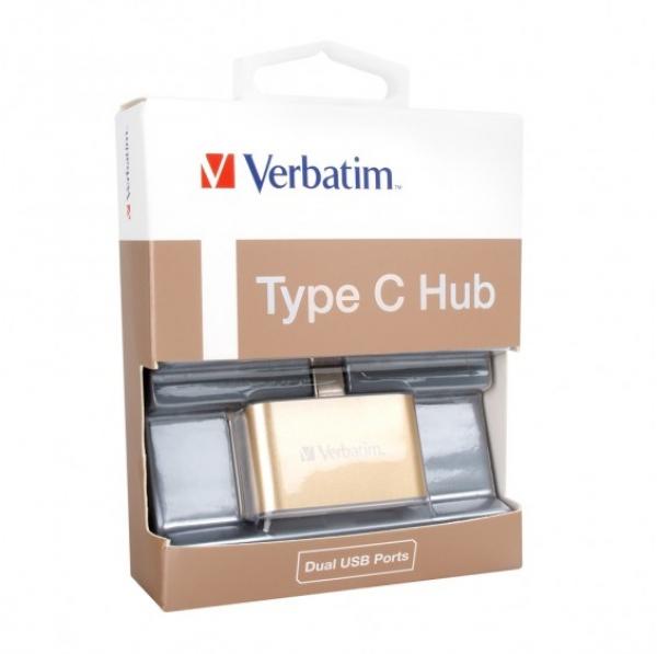 VERBATIM  Usb-c 3.1 Dual Port Usb Hub - Gold ( 65290