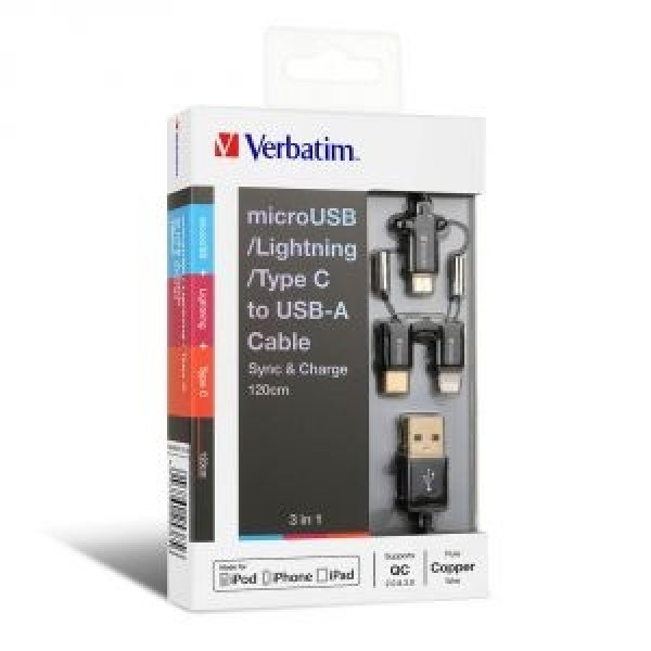 VERBATIM  Metallic Charge&sync 3-in1 65385