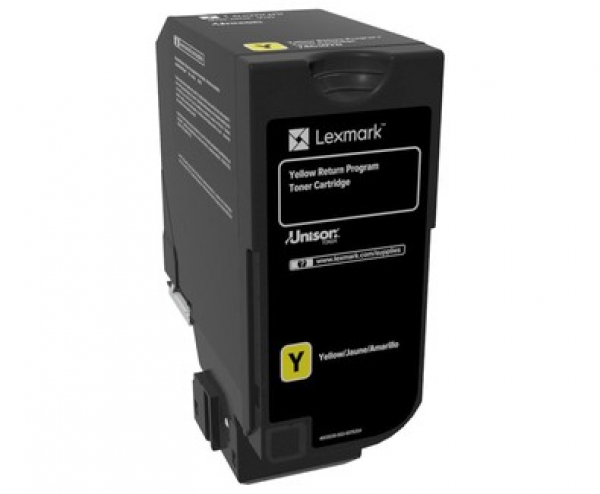LEXMARK Cs720/cs725/cx725 Return Program Yellow Toner Cartridge 74C60Y0