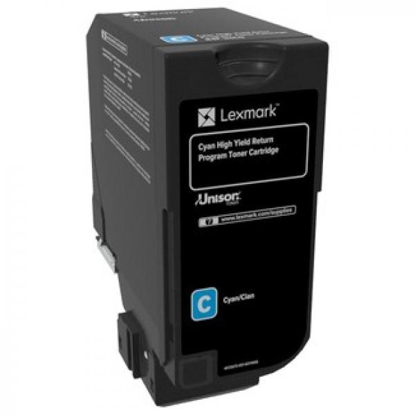 LEXMARK Cx725 Cyan High Yield Return Program Toner Cartridge 84C6HC0