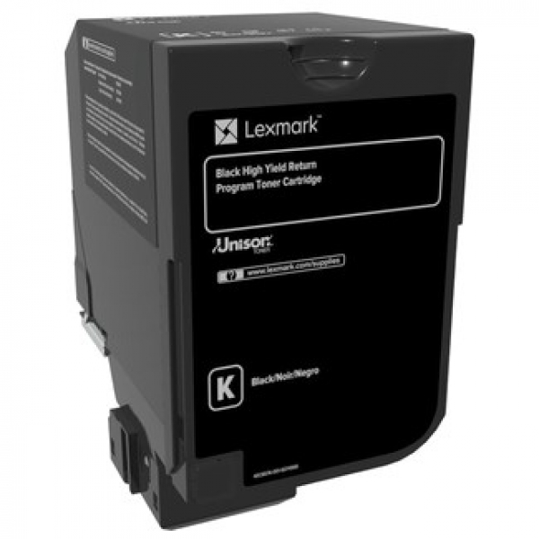 LEXMARK Cx725 Black High Yield Return Program 84C6HK0