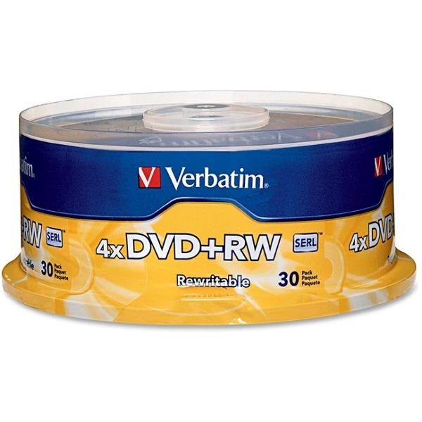 VERBATIM Dvd+rw 30pk Spindle 4x 94834