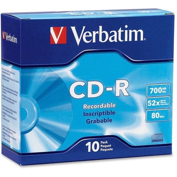 VERBATIM Cd-r 700mb 10pk Slim Case 94935
