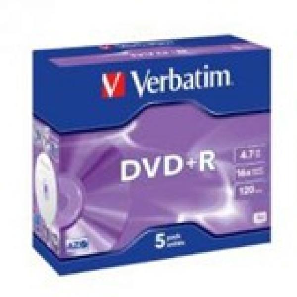 VERBATIM Dvd+r 4.7gb Jewel Case 95049