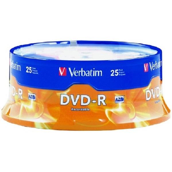 VERBATIM Dvd-r 4.7gb 25pk Spindle 95058
