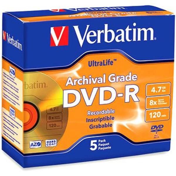 Verbatim DVD-R 4.7GB 5pk Jewel Case (95070)