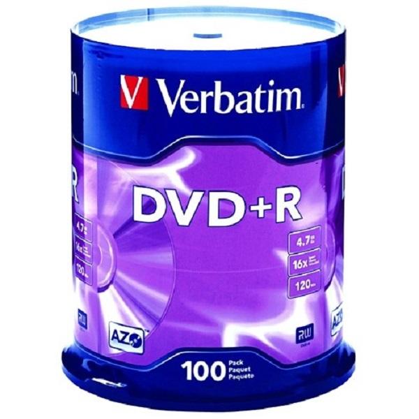 VERBATIM Dvd+r 4.7gb 100pk Spindle 95098