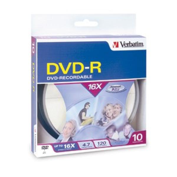 VERBATIM Dvd-r 4.7gb 10pk Spindle 95100