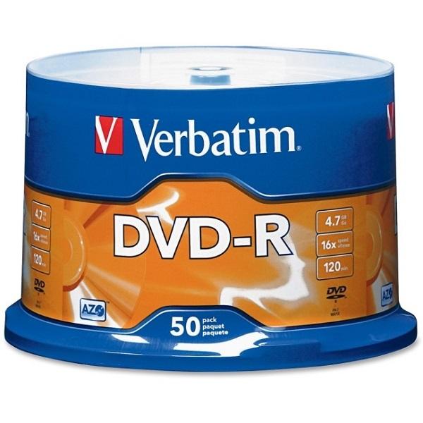 VERBATIM Dvd-r 4.7gb 50pk Spindle 95101