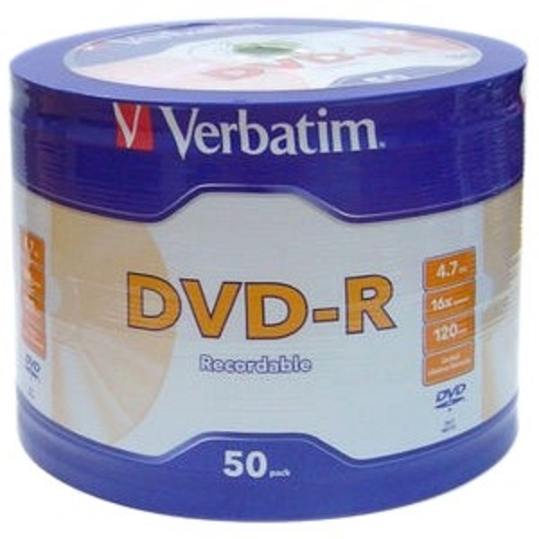 VERBATIM Dvd-r 4.7gb 50pk Bulk Silver Shiny 95203