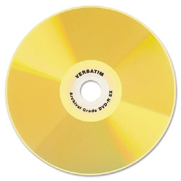 Verbatim DVD-R 4.7GB 8X UltraLife Gold Archival Grade with Branded Surface and Hard Coat - 50pk Spindle (95355)