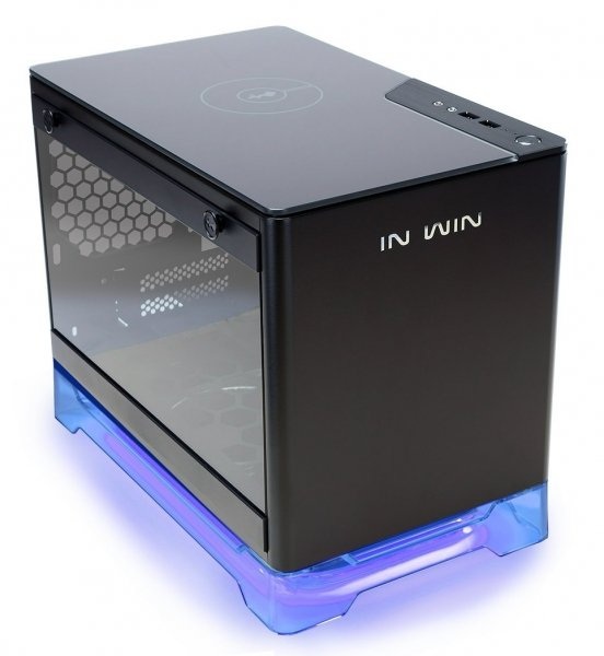 INWIN Mini-ITX PC Case Tempered Glass Side Panel USB 3.0 (A1-BLACK)