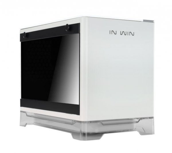 INWiN Mini-ITX PC Case Tempered Glass Side Panel USB 3.0 (A1-WHITE)