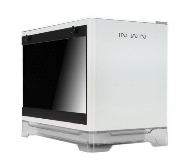 INWiN Mini-ITX PC Case Tempered Glass Side Panel USB 3.0 (A1-WHITE)