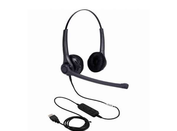 ADDCOM Entry Level Lync Compatible Duo Headset ADD30USBLYNC