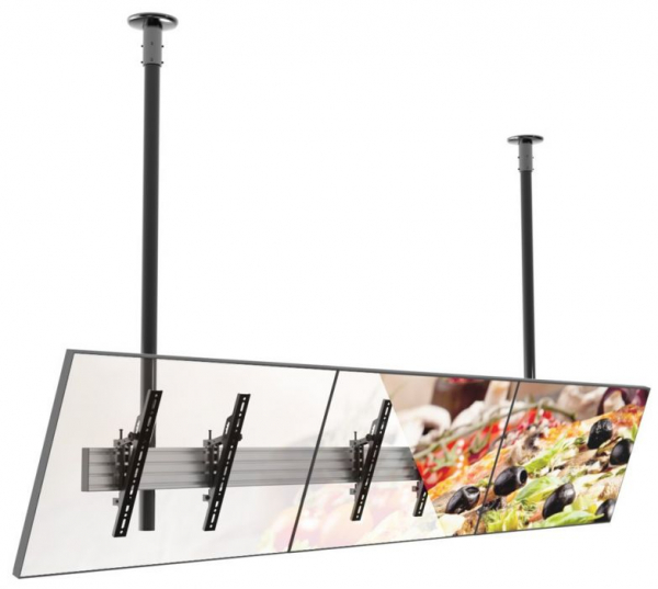 Atdec 3x1 Ceiling Mount Menu Board Mount With Tilt 42-49