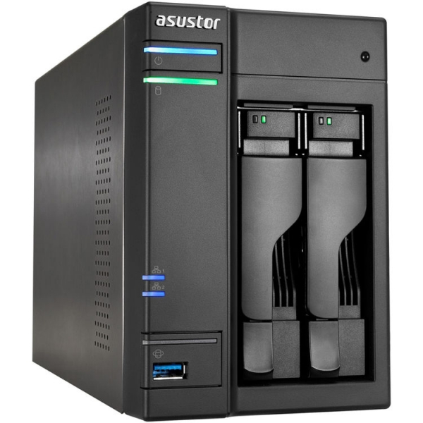 Asustor 2-Bay NAS Server High Performance Intel Celeron Braswell Network Storage (AS6102T)