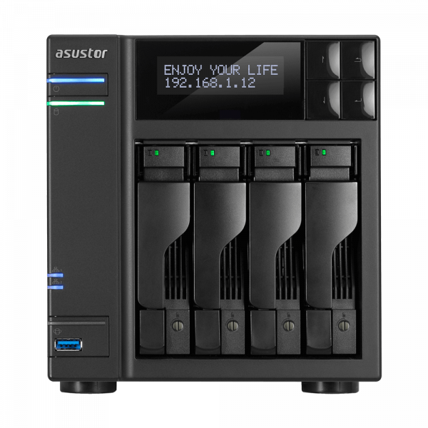 Asustor 4 Bay Nas Apollo Lake Quad-Core CPU 4K/UHD (AS6404T)